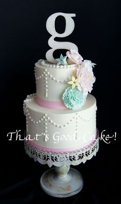 Vintage Inspired Baby Shower Cake
