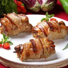 Rouleaux de bacon au poulet et mozzarella