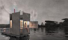 Floating Sauna to Give Stressed Seattleites Double Relaxation via Dornob