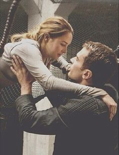 """first time they saw each other ~Divergent~ ~Insurgent~ ~Allegiant~ """"Did they push you?"""" """"No."""""""