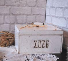 Купить Хлебница в стиле Прованс (малая) - белый, хлебница, хлебница из дерева, хлебница для кухни, кухня