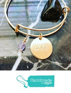 Sorority Bracelet - Add Colored Crystals to Show Sorority Colors, Custom Charm Bangle Adjustable - Personalized Charm Bracelet Expandable - Inspirational, Mantra, Gratitude, Spirit, Love - Copper, Brass or Sterling Silver Filled Wire Charm Bangle - Personalize With Your Words- Sorority Sister Bangle from BlueCornerCreasigns http://www.amazon.com/dp/B01EBA6ZGM/ref=hnd_sw_r_pi_awdo_qmXexb17F3EZK #handmadeatamazon
