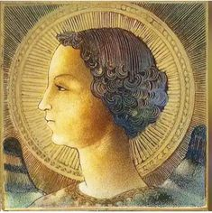 Discovered the first work painted by Leonardo da Vinci !!! In a terracotta tile of 20 × 20 × 1'2 cm. Signature Covered by a layer of enamel. It represents the Archangel Gabriel whit peacock wings, and is signed by Leonardo in 1471 when he was 18 and a half years old.