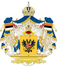 Kingdom of Ruthenia Coat of Arms Double Header, Unique Symbols, Family Crest, Byzantine, Coat Of Arms, Austria, Herb, Flags, Badge