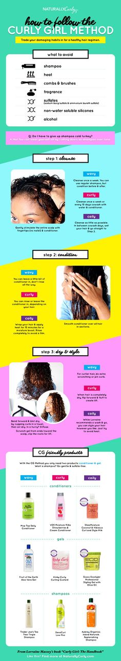 How to follow the curly girl method