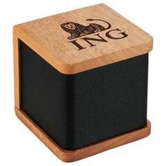 Seneca Bluetooth Wooden Speaker - This is a classy gift for your customers or executives.  The Seneca Bluetooth Speaker is made from real Mahogany wood. Producing a sound that is as natural as the wood its made from.