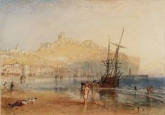 turner paintings tate | Joseph Mallord William Turner, 'Scarborough' c.1825