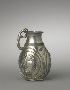 Iranian Silvet Hunt Pitcher, 500 - 600.