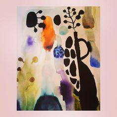 Watercolor painting by Emma Larsson @zebrakadebra