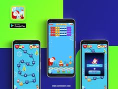 Santa Games, Mobile Game Development, Match 3 Games, Bubble Shooter, Christmas Games, Google Play, Bubbles, Merry, Sweets