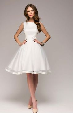 Gorgeous New White Dress.Occasion Open Back Flared Dress. Fairy Skirt, Beautiful White Dresses, Formal Gowns, Cheap Dresses, White Lace, Marie, Party Dress, Fashion Dresses, Clothes For Women