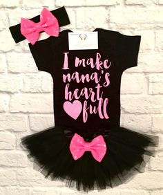 A personal favorite from my Etsy shop https://www.etsy.com/listing/509413505/baby-girl-clothes-nana-shirts-i-make