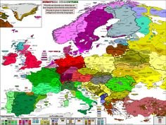 Linguistic Map of Languages and Dialects in Europe : priority given to dialects and indigenous minority languages