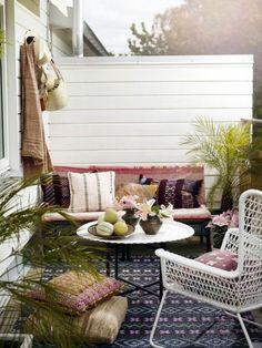 la meilleure decoration pour votre balcon, idee deco balcon fleuri