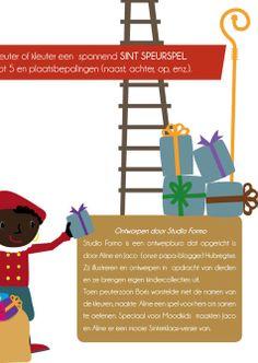 Sinterklaas speurspel voor peuters en kleuters, je oefent meteen kleuren, tellen tot 5 en plaatsbepalingen als voor, achter, naast etc.