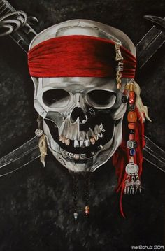 Pirate Skull by *shaman-art on deviantART