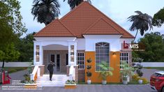 1 new message 3 Bedroom Bungalow, Modern Bungalow House, 4 Bedroom House Plans, Bungalow Exterior, Family House Plans, Bungalow Designs, House Front Design, Design Your Dream House, Bungalow Floor Plans