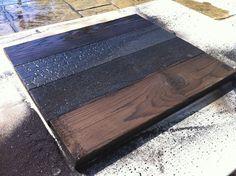 La technique du bois brûlé ou Shou Sugi Ban - Différents effets de brûlage