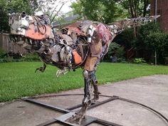The animals are about to take over one Columiba man's back yard as his collection grows. Its because USC professor of archaeology turned artist, Andy White is working to give scrap metal a new life in new forms as he takes Columbia's trash and turns it into art.