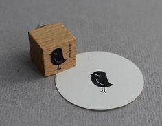 Stempel Vogeldame klein