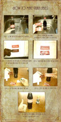 How to make Nuka-Cola labels by Whatpayne.deviantart.com on @deviantART