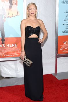 The 35-year-old star was joined on the red carpet by her co-stars Zach Braff, Josh Gad, and Donald Faison to promote the film (which hits theaters on Friday).