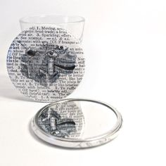 Vintage Dictionary Pocket Mirror by wearwolf on Etsy