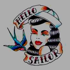 Best Sailor Jerry Tattoos for Inspiration. In the world of tattoos Sailor Jerry Tattoos are chosen by most of the customers as it ends up with fine Rockabilly Tattoos, Oldschool Tattoos, Rockabilly Music, Rockabilly Tattoo Designs, Rockabilly Girls, Pin Up Girl Tattoo, Pin Up Tattoos, Girl Tattoos, Tatoos