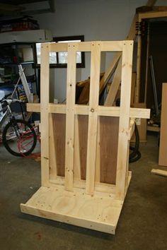 Sheet goods and wood storage cart cool garage ideas for Sheet goods cart