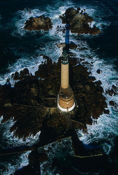 Roches-Douvres lighthouse [1954 - Channel Islands, Brittany, France]