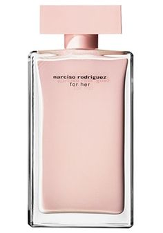 Narciso Rodriguez~Top notes of rose and peach. Heart: amber and musk. Base: patchouli and sandalwood.