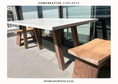 Concreative - Decorative concrete products will give you the leading edge to stand out! Custom concrete products and lightweight concrete furniture.