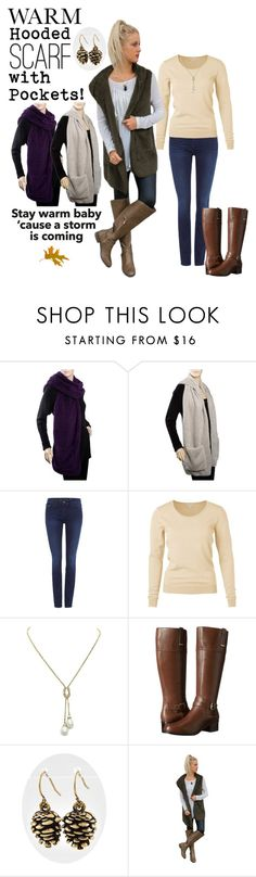 """""""Stay Warm"""" by shoppe23online ❤ liked on Polyvore featuring Calvin Klein, Bandolino, scarf, winteressentials and Shoppe23"""