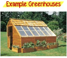 Building A Greenhouse Plans - need this for my hubby to build my greenhouse!