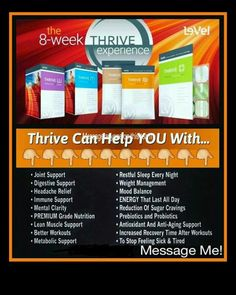 Ready yet? Get informed for free. Www.thrivewithgee.com