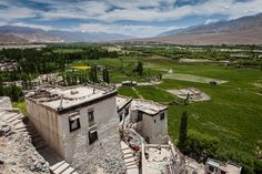 View from Spituk Gompa - Leh, Ladakh, Northern India by Andrea Schieber Leh Ladakh, India, Mansions, House Styles, Manor Houses, Villas, Fancy Houses, Palaces, Mansion
