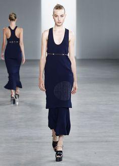 simple tank dress with geometric applique - calvin klein