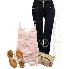 """""""pink and gold"""" by candy420kisses on Polyvore"""