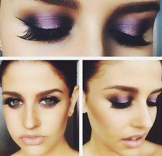 Purple metallic Eye makeup