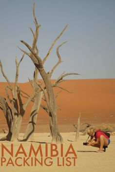 Want to know what to pack while traveling Namibia? Here is the ultimate Africa packing list. Packing Tips For Travel, Travel Advice, Travel Guides, Packing Lists, Africa Destinations, Travel Destinations, Travel Couple, Family Travel, Travel Around The World