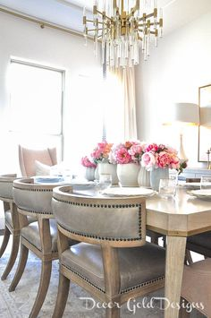 Spring Home Tour - Create a Sanctuary - Decor Gold Designs Dining Room Design, Dining Room Furniture, Dining Room Table, Kitchen Tables, Interior Design Help, Interior S, Diy Home Decor, Room Decor, White Rooms