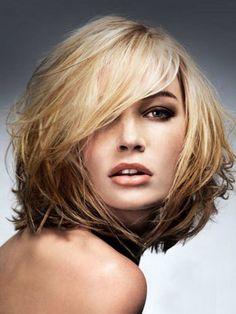 cool Элегантная косая челка на средние волосы (50 фото) — Лучшие варианты…