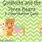 This pack is designed to accompany the story Goldilocks and the Three Bears in the Scott Foresman's Reading Street Series for Kindergarten. This is a comprehension game pack to help review skills and assess student's comprehension. This can be played in small groups.