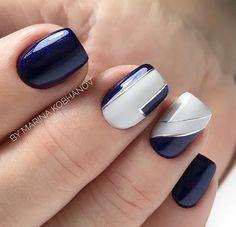 161+ красивые акриловые короткие квадратные ногти дизайн для ногтей французский маникюр 3 ~ т ... -  #акриловые #Дизайн #для #квадратные #короткие #красивые #Маникюр #ногтей #ногти #французский