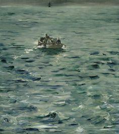 Édouard Manet (French, 1832–1883) The Escape of Rochefort (L'évasion de Rochefort), ca. 1881 Oil on canvas, 31 1/2 x 28 3/4 in. Musée d'Orsay, Paris © RMN (Musée d'Orsay), Hervé Lewandowski