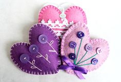 Hey, I found this really awesome Etsy listing at https://www.etsy.com/listing/187355832/heart-wool-felt-ornaments-with-button