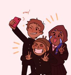"""guppygang: """"the aliens lance is taking a picture with are so cute… """""""
