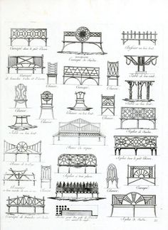 Vintage French Garden Furniture Drawings [inspiration for spring 2012]