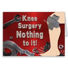 Get Well Soon Wishes After Surgery Get Well Wishes, Get Well Soon Gifts, Knee Surgery, Get Well Cards, Masculine Cards, Funny Cards, Sympathy Cards, Duct Tape, Custom Greeting Cards