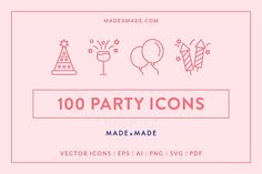 Line Icons – Party by Made by Made on @creativemarket